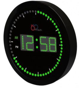 Circling LED Digital Big Wall/Desk Time Clock for Home Decoration pictures & photos