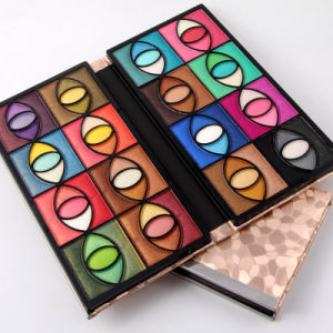 Popular 80 Colors Pearly Lustre Long Lasting Eyeshadow 16 Serise Ture Intense Color pictures & photos