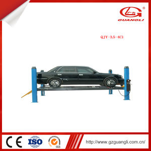 Guangli Professional Factory Supply Hydraulic Four-Post Lift for Four-Wheel Alignment (QJY-3.5-4C1) pictures & photos