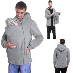 Warm Kangaroo Baby Carrier Fleece Hoodie (A634) pictures & photos