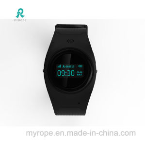 Best Quality Small Black GPS Kids Tracker Watch pictures & photos