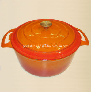 Round Cast Iron Saucepan with Enamel Coating pictures & photos