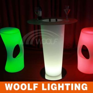 2016 Hot Sale Rechargeable LED Bar Stool Cheap Plastic Bar Stools pictures & photos