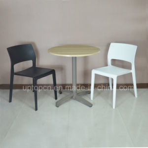 Commercial Plastic Restaurant Table with Wooden Desktop and Chair Furniture Set (SP-CT354) pictures & photos