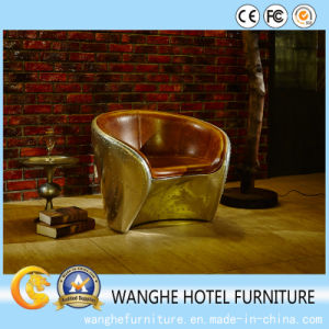 American Modern Design Genuine Leather Metal Chair for Living Room pictures & photos