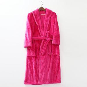 Promotional Home / Hotel Coral Fleece / Flannel Women Bathrobe / Pajama / Nightwear pictures & photos