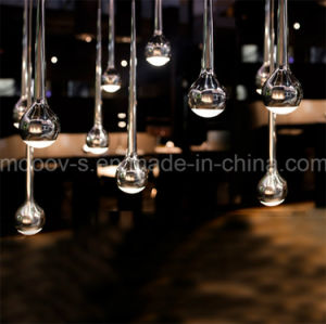 Modern Multihead Black or Chrome Metal LED Meteor Shower Water Drop Pendant Light pictures & photos