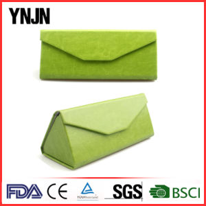 High Quality Colorful Folding Leather Sunglasses Case pictures & photos
