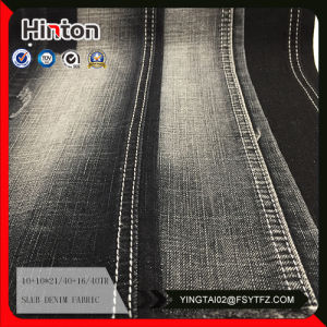 Black Color 8oz Denim Fabric with Slub Style pictures & photos