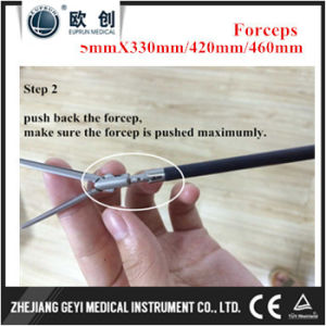 2017 Geyi Laparoscopic Instruments Maryland Rotatable Insulated Forceps Clamps pictures & photos