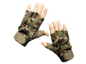Army Special Operation Tactical Half Finger Assault Gloves pictures & photos