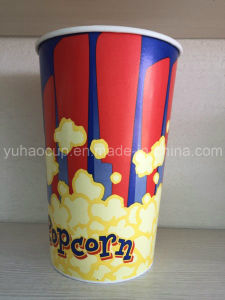 20oz Healthy and Safe Food Grade Paper Popcorn Cup (YHC-141) pictures & photos