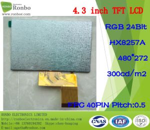 "4.3"" 480X272 RGB 40pin 300CD/M2 TFT LCD Display for POS, Doorbell, Medical pictures & photos"