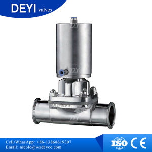 Stainless Steel Pneumatic Clamped Diaphragm Valve (DY-V102) pictures & photos