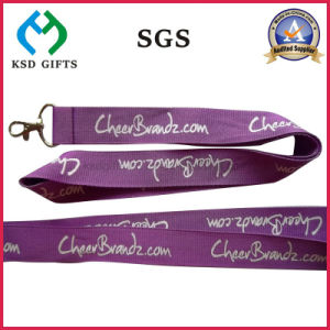 Office Lanyard Custom Polyester Neck Strap with Metal Hook & Detachable Buckle pictures & photos