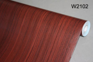 Wood Matt Wooden Grain PVC Film PVC Decorative Furniture Foil pictures & photos