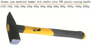 Machinist Hammer with Double Color Plastic Coating Handle pictures & photos