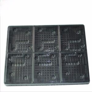 Custom PS Plastic Electronic Components Frosted Blister Tray Lining pictures & photos