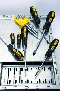 Hand Tools 0#*75mm Transparent Handle Cross/Phillips Head Screwdriver pictures & photos