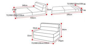 Cheap Contemporary Leisure Sofa Set Lounge Chair 195*120cm pictures & photos