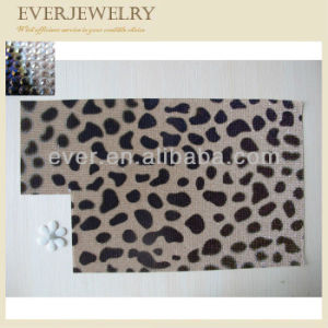 Latest Fashion Leopard Print Hot Fix Rhinestone Mesh pictures & photos