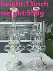 Recycler Smoking Water Pipe with Three Windmills for Dry Herb pictures & photos
