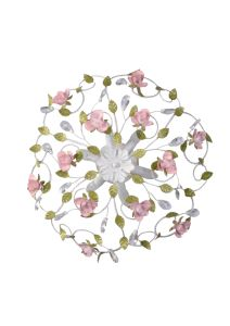 Floral Indoor Round Ceiling Lamp with Pink Flower and Green Leaf pictures & photos