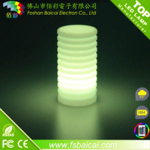 Environmental Friendly LDPE Plastic LED Round Colume Light pictures & photos
