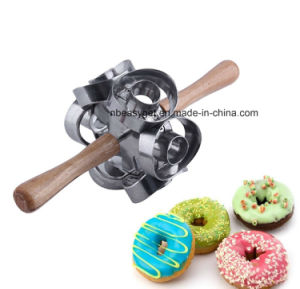 Rollving Heavy Duty Metal Donut Cutter Mold Doughnut Maker Tool Cutting Donut Maker Cutter Mold Fondant Cake Bread Desserts Bakery Mould Home Baking Esg10156 pictures & photos