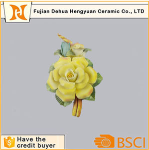 Porcelain Flower Ornament Small Ceramic Artificial Flower pictures & photos