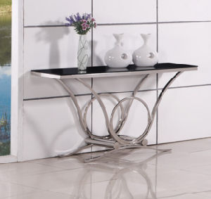 Cheap Wholesale Modern Glass Console Table with SGS pictures & photos