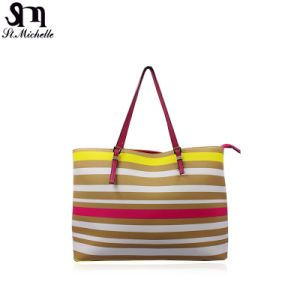 Fashion Colorful Stripe Tote Handbags pictures & photos