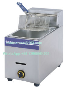 High Quality Kitchen Equipment Stainless Steel Deep Gas Fryer pictures & photos