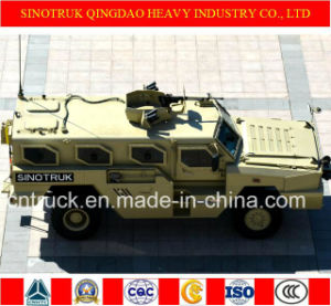 Sinotruk Tiger Brand 4X4 Wheeled Armoured Vehicle with Bullet Proof pictures & photos