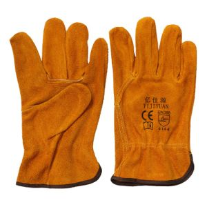 Cow Split Leather Industrial Hand Protective Driver Work Gloves pictures & photos