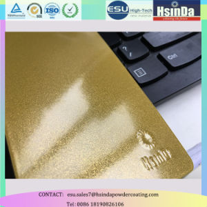 Glitter Powder Paint Gold Metallic Candy Powder Coating for Metal Furniture pictures & photos
