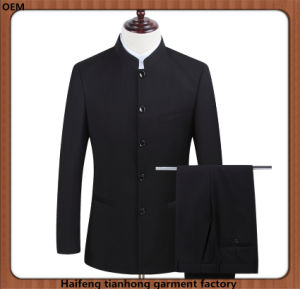 Chinese Style Men Formal Suit with Stand Collar