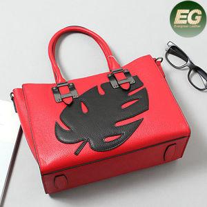 Genuine Leather Designer Ladies Handbag Lady Bag Soft Leather with Leaf Emg4884 pictures & photos