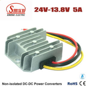 24VDC to 13.8VDC 5A 69W DC-DC Buck Converter Power Supply pictures & photos