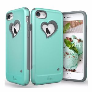 Vena Heart-Shape Dual Layer Protection Hybrid Bumper Cover for iPhone7 pictures & photos