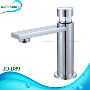 Brass Chrome Plated Time Delay Basin Mixer Faucet Sanitary Ware pictures & photos