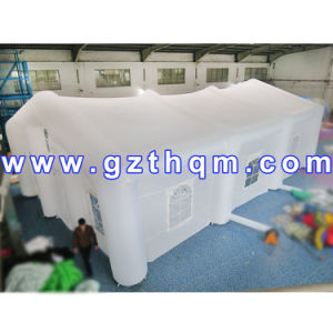 White Party Event Marquee Inflatable Tent with Window and Tunnel Entrance pictures & photos