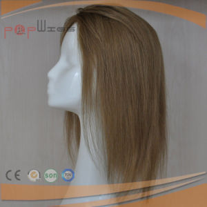 Blonde Lace Front Human Hair Silk Top Hair Piece pictures & photos