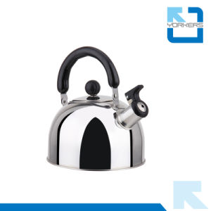 1L/2L/3L/4L High Quality Stainless Steel Flat Bottom Whistling Kettle pictures & photos