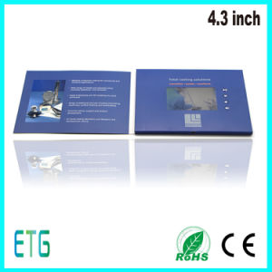 Promotional LCD Screen Video Brochure Greeting Card Video Invitaiton Card pictures & photos