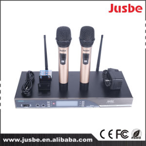 Cardioid UHF 2 Way Wireless Handheld Karaoke System Speaker Microphone pictures & photos