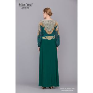 Miss You Ailinna 801672-2 Muslim Women Party Dress with Chiffon Sleeve pictures & photos