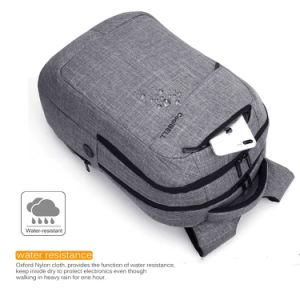Multi-Compartment Waterproof Laptop/Computer Backpack Travel Rucksack with USB Charger Port pictures & photos