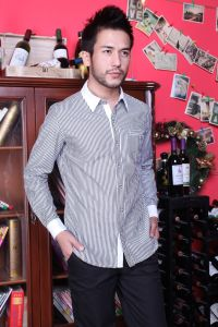 Men′s Long Sleeve Striped Shirt pictures & photos