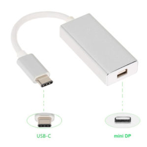 1080P USB 3.1 Type C to Mini Dp Display Port Adapter Cable for Apple New MacBook Monitor Projector pictures & photos